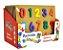 Brinquedo Educativo Didático Encaixe Madeira Números - DM Toys - Imagem 2