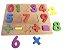 Brinquedo Educativo Didático Encaixe Madeira Números - DM Toys - Imagem 1