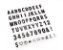 Letras extra pretas para Luminaria Led Light Box  - Imagem 1