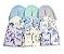 10 Kits Toucas e luvas 100% algodão - 0 a 4 meses VARIADOS DE MENINO - Imagem 1