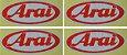 04 Adesivos Arai 8,5x3,5cm duas cores Capacete - Imagem 3