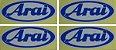 04 Adesivos Arai 8,5x3,5cm duas cores Capacete - Imagem 2