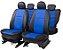 Capa Banco em Courvin Automotivo Preto / Azul CarFashion - Imagem 1