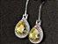 Brinco Wong Rain de Ganchos Sapphire com Pedras Preciosas de Topázio e Ametista - 3 cores - Imagem 2