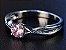 Anel de Prata Pansysen Fashion com Pedra de Sapphire cor Rosa - Imagem 2
