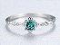 Anel de Prata Banhado a Ouro 18k com Pedra Preciosa de Zircão cor Verde - Imagem 3