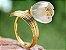 Anel de Ouro 18k com Pedra Flor de Lotus Estilo Trendy - Imagem 2