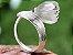 Anel de Prata com Pedra de Flor de Lotus Estilo Trendy Cor Prata - Imagem 2