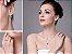 Conjunto de Esmeraldas com Colar Brincos e Anel de Prata cor Verde - Imagem 2