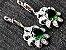 Conjunto de Jóias de Prata com Colar Brinco Pulseira Anel cor Verde - Imagem 4
