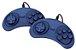 VIDEO GAME TECTOY MASTER SYSTEM - AZUL 2 CONTROLE C/FIO, 1 CABO AV - Imagem 2