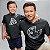 Kit Pizza e Pedaço de Pizza Preto Camiseta Unissex e Body Infantil - Imagem 2