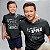 Kit Pai Herói Preto Camiseta Unissex e Body Infantil - Imagem 2