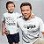 Kit Pai Herói Branco Camiseta Unissex e Body Infantil - Imagem 2