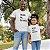 Kit Melhor Pai Melhor Filha Branco Camiseta Unissex e Camisetinha Infantil - Imagem 2