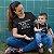 Kit Caça-Furacão Furacãozinho Preto Camiseta Unissex e Body Infantil - Imagem 2