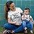 Kit Caça-Furacão Furacãozinho Branco Camiseta Unissex e Body Infantil - Imagem 2