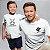 Kit Mestre Ninja e Ninja em Treinamento Branco Camiseta Unissex e Body Infantil - Imagem 3