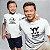 Kit Rei dos Piratas e Pirata em Treinamento Branco Camiseta Unissex e Camisetinha Infantil - Imagem 2