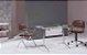 Mesa para Sala de Reunião Tampo em Vidro 8 mm 1,80 x 0,90 m Pés Cromados - Imagem 1