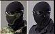 Máscara de Proteção Airsoft Tela Meia Face Preta - Imagem 3