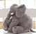 Almofada Elefante Pelúcia 45cm Travesseiro Bebê Antialérgico - Cinza - Imagem 2