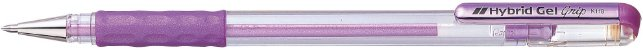Caneta Hybrid Gel Grip Metallic Violeta K118-Mv - Imagem 1