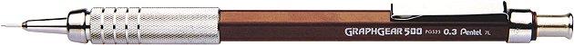 Lapiseira 0.3mm Pentel Graphgear - Marrom - Imagem 1