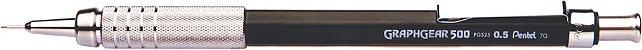 Lapiseira 0.5mm Pentel Graphgear - Preta - Imagem 1