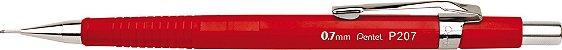 Lapiseira 0.7mm Pentel Sharp P207FRPB - Vermelho Vivo - Imagem 1