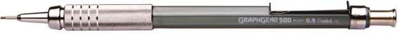 Lapiseira 0.9mm Pentel Graphgear - Prata - Imagem 1
