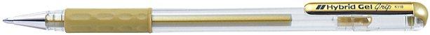Caneta Hybrid Gel Grip Metallic Ouro K118-Mp - Imagem 1