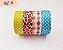 Fita Adesiva Washi Tape Estampada Kit c/4 - Imagem 4