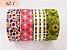 Fita Adesiva Washi Tape Estampada Kit c/4 - Imagem 1