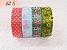 Fita Adesiva Washi Tape Estampada Kit c/4 - Imagem 8