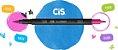 Caneta Cis Dual Brush Aquarelável 6 cores Básicas  - Imagem 2