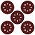 Kit 50 Discos Lixas para Lixadeiras Roto Orbital 125mm + Suporte Furadeira/Esmerilhadeira - Imagem 6