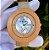 Relógio de madeira com pedras preciosas - Imagem 1
