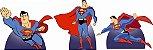 Kit 3 Und Totem Display Centro De Mesa Super Man Homem Herói - Imagem 1