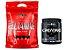 Glutamina 1kg Refil - Integralmedica + Creatina 300g Caveira Preta - Black Skull - Imagem 1