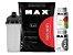 100% Whey Refil 2kg Morango Max Titanium + Zma 90 Cáps + Multimax 90 Cáps + Shaker - Imagem 1