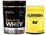 100% Whey 825g Probiotica + Albumina 500g Naturovos Chocolate - Imagem 1