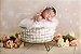 Cesto Redondo Fotos Newborn Props, Decoração ArteBrasil - Imagem 1