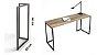 Escrivaninha Industrial - Mesa Home Office - Escolha o tamanho e cor - 100% MDF e Metalon - Imagem 2