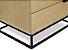 Mesa de Cabeceira duas Gavetas com pés de Metalon - 100% MDF - Escolha sua cor - Imagem 4
