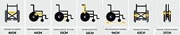 Cadeira de rodas simples suporta até 90 KG - Dobrável - Pneu maciço - Imagem 5