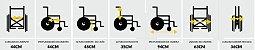 Cadeira de rodas Liberty - Suporta 100 Kg - Prolife - Imagem 3