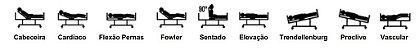 Cama Residencial Motorizada 5 Movimentos Trendelemburg Turim 2068 Nbtech - Imagem 4