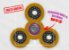 Fidget Hand Spinner - Discos Amarelo - Imagem 1