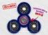 Fidget Hand Spinner - Discos Azul Translúcido - Imagem 1